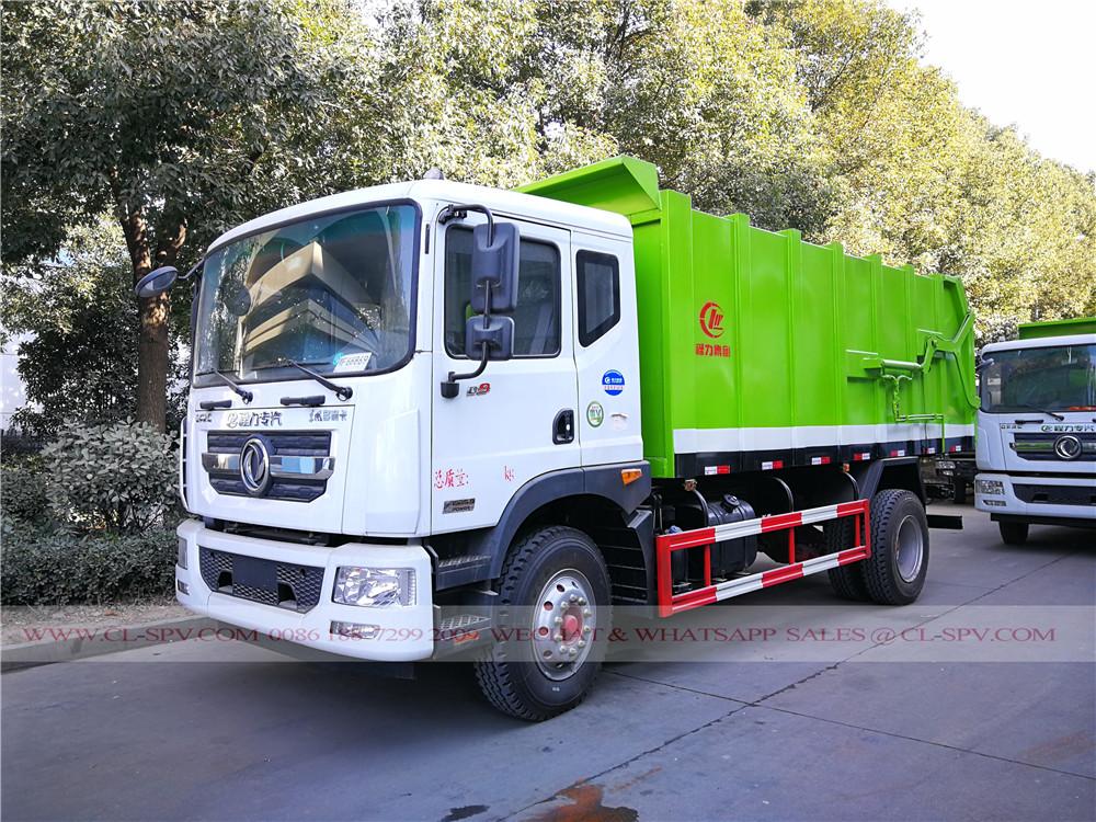 Dongfeng D9 camión de la basura de acoplamiento