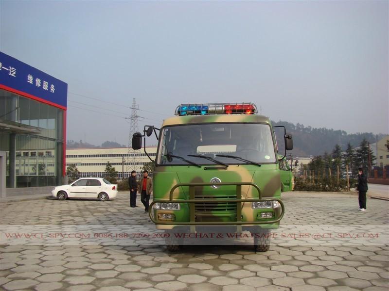 China, todos los autobuses militares ruedas motrices