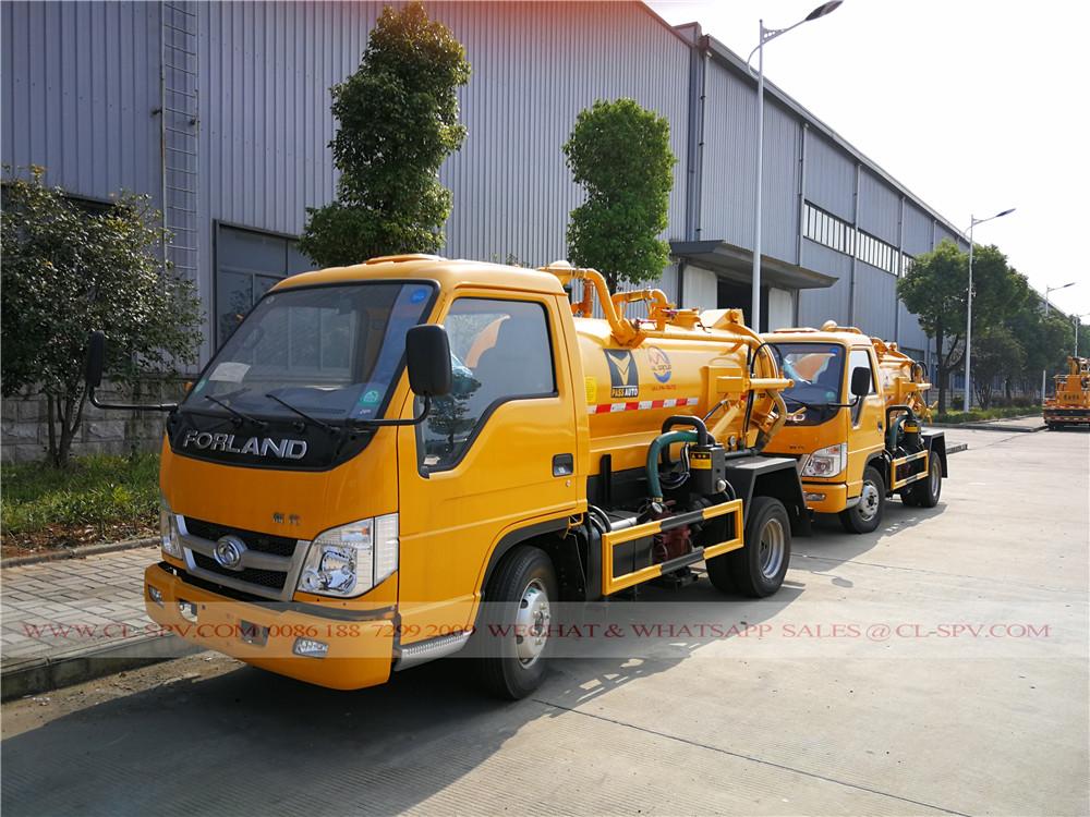 fotos Forland 2000 litros caminhão de sucção de esgoto