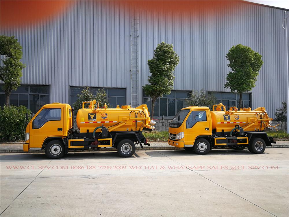 Forland 2000 los litros de camiones de succión de aguas residuales