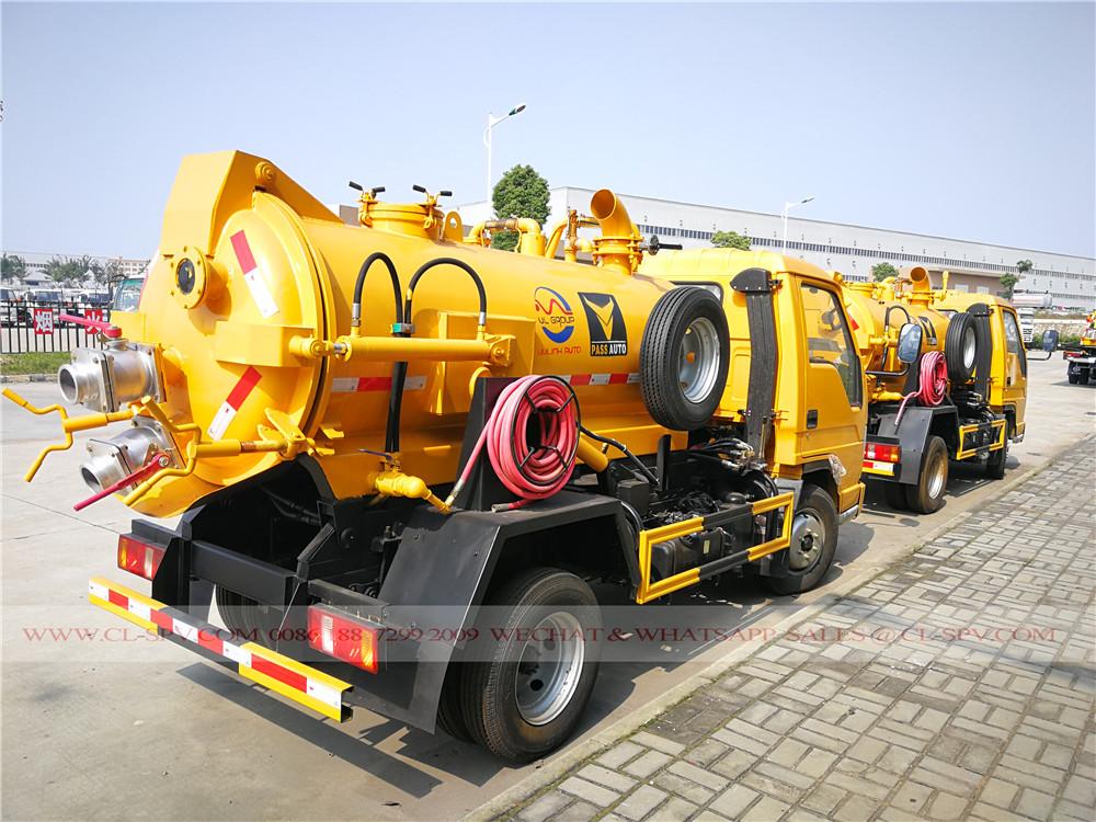 2 toneladas de camiones de succión de aguas residuales