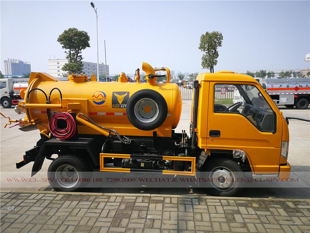 2000 litros caminhão de sucção de esgoto