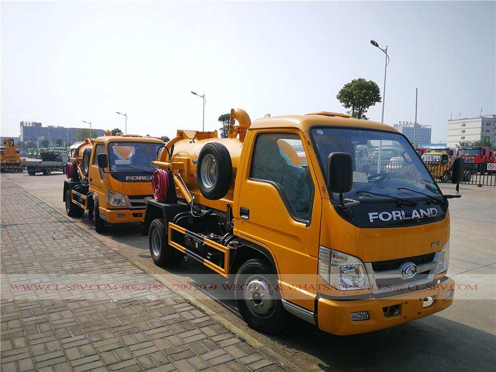 China, camiones de succión de aguas residuales