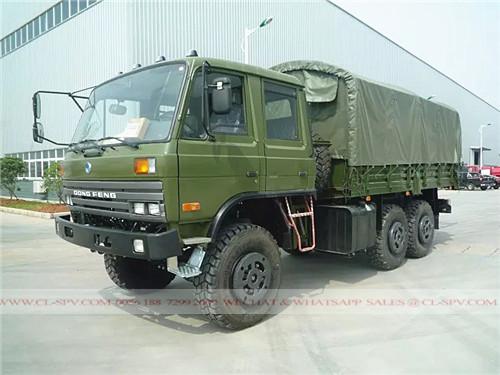 Dongfeng 4 puertas de camiones militares tripulación