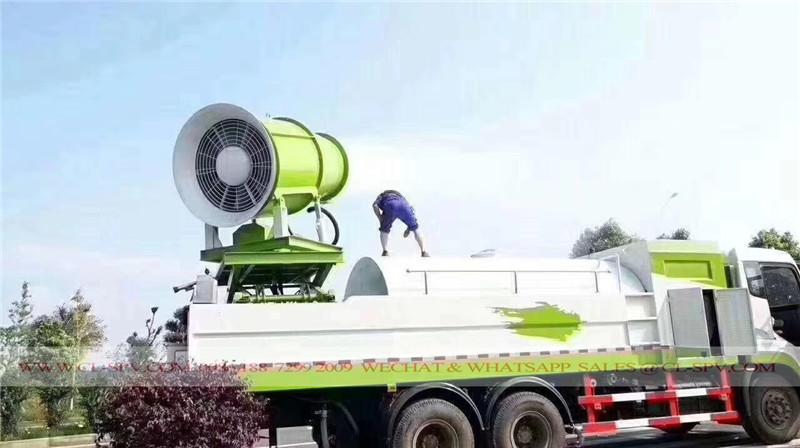 Elevador de tijeras plataforma de camión de supresión de polvo