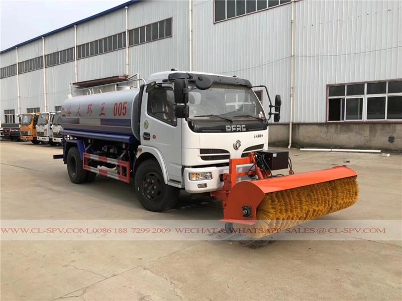 грузовик воды DFAC с 2,5м снега метлой