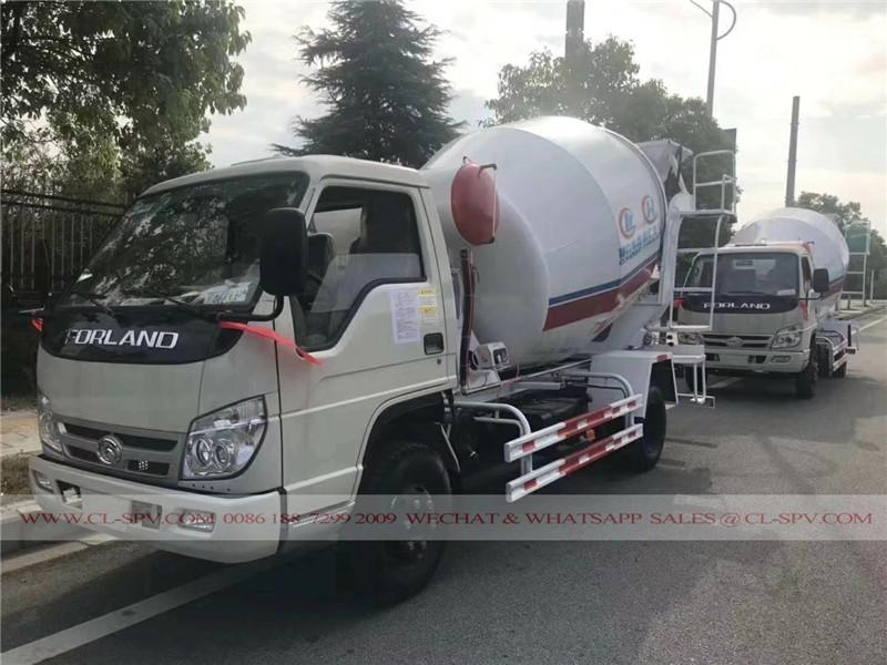Foton 3000 liters concrete mixer truck