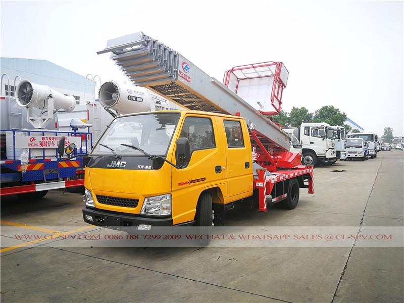 JMC de alta altitude caminhão plataforma de material de transporte