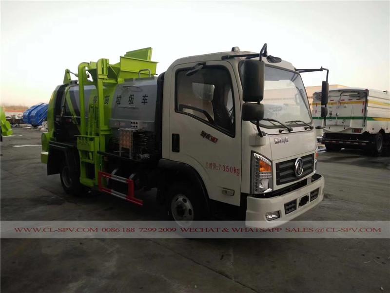 Colgando cubo de basura sellado fabricante de camiones