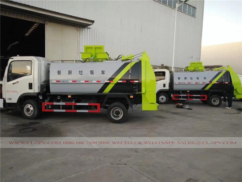 挂桶密封式垃圾车供应商