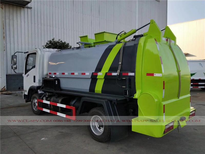 Dongfeng Colgando cubo camión de la basura sellado