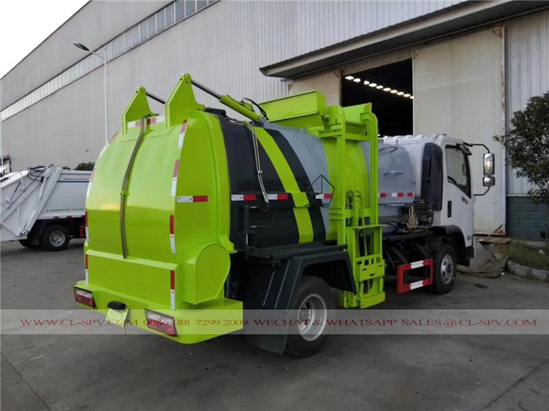 Dongfeng colgante cubo de vehículo de basura sellado