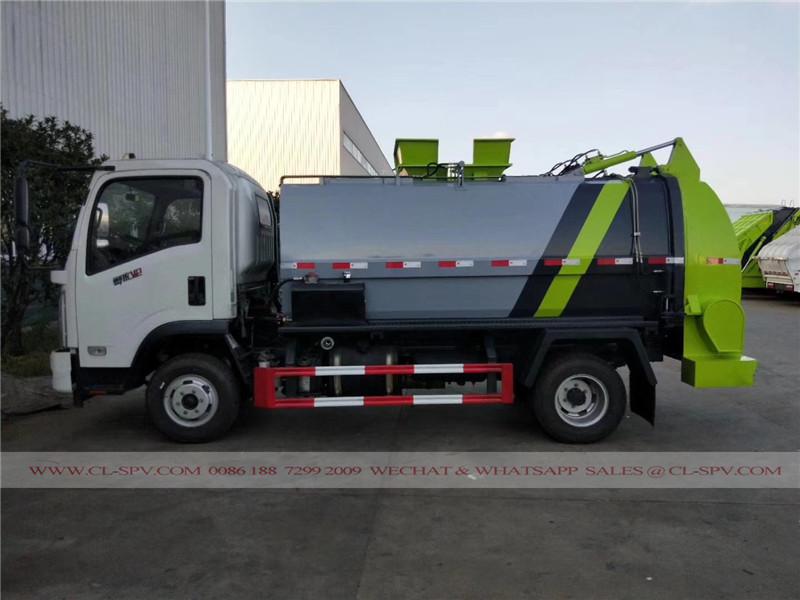 Dongfeng sellado camión de la basura