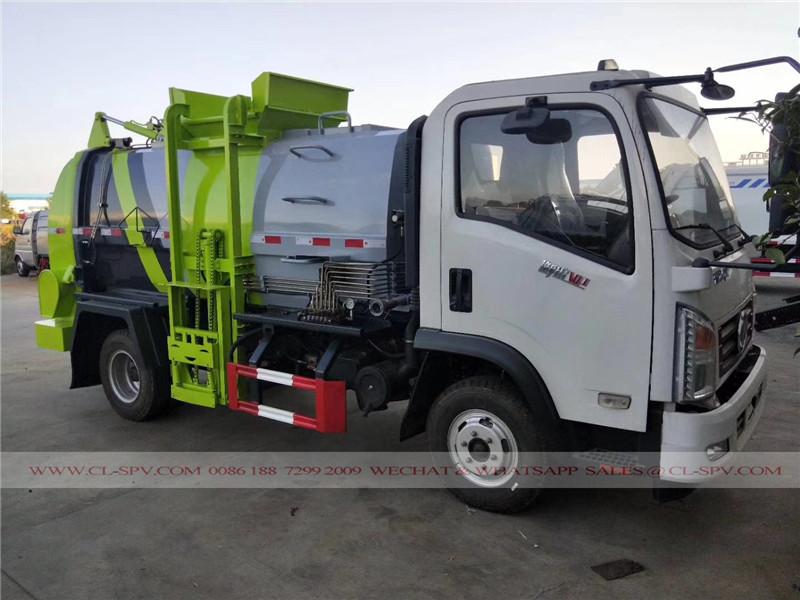 Dongfeng Colgando cubo camión de la basura