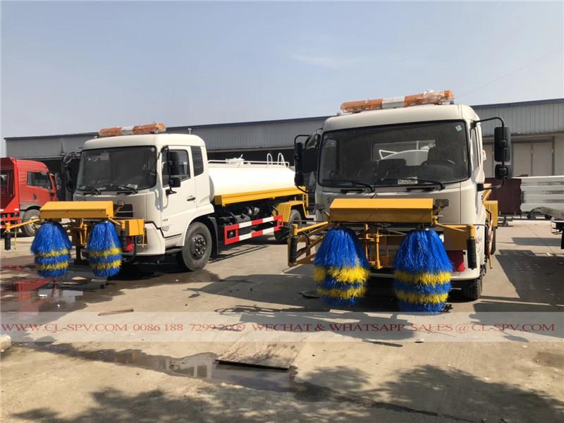 Dongfeng vehículo de limpieza valla de carretera