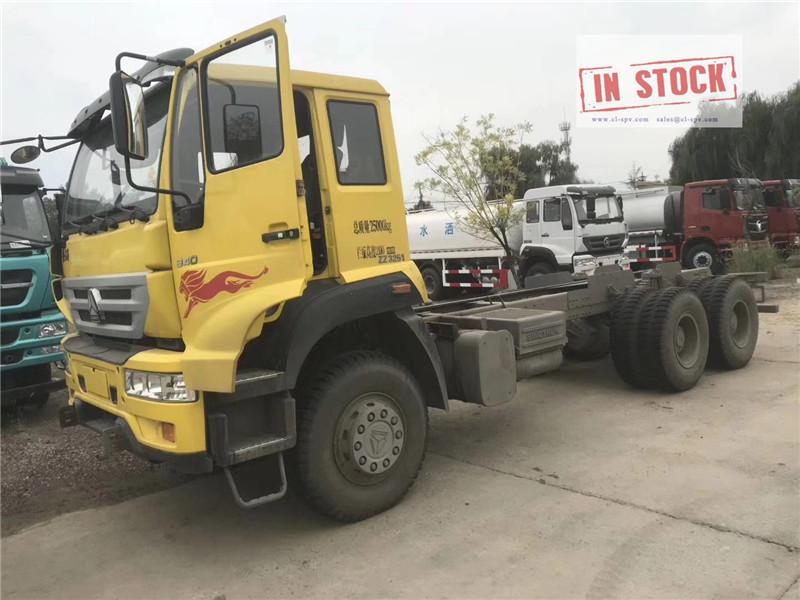 Jinwangzi chassi de caminhão 6x4 em estoque
