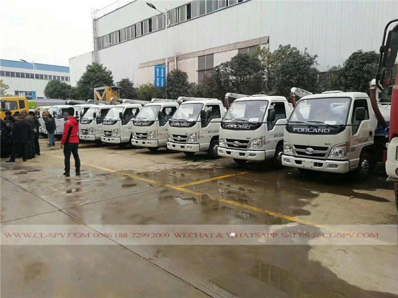 China Foton vacío fecal succión de camiones