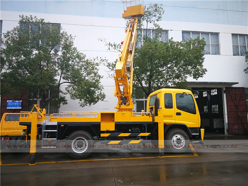 China Telescopic Aerial platform truck