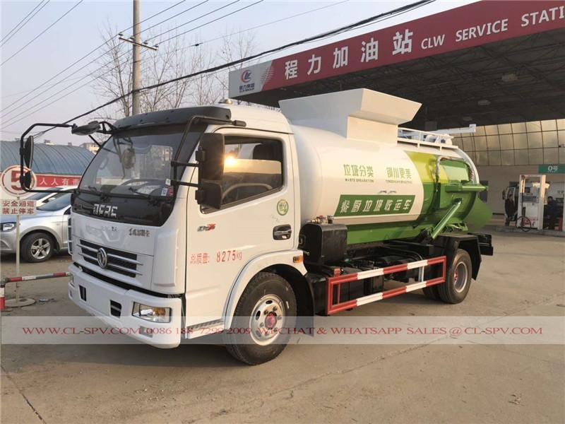 Dongfeng restaurante de cocina camión recolector de basura