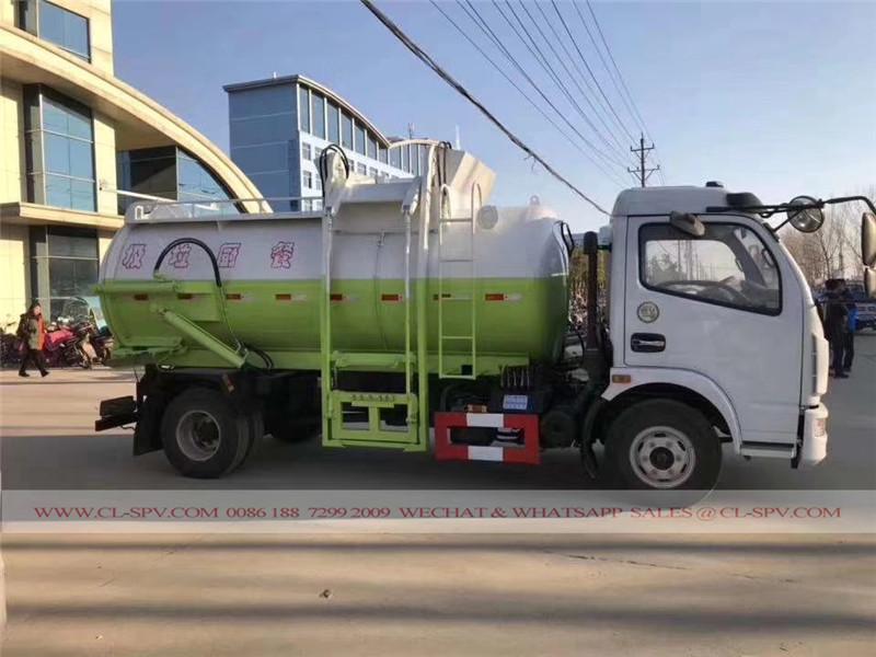 Dongfeng caminhão de lixo de cozinha