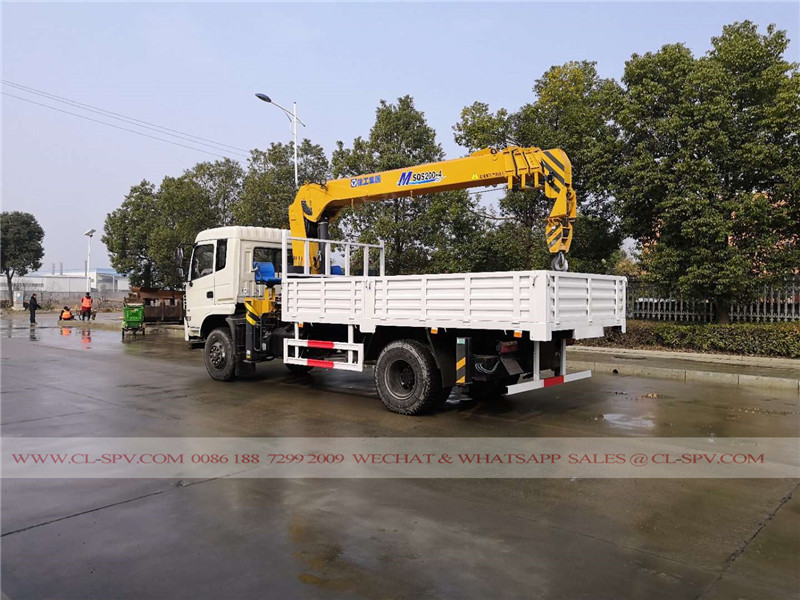 Dongfeng truck with SQS 200-4 crane