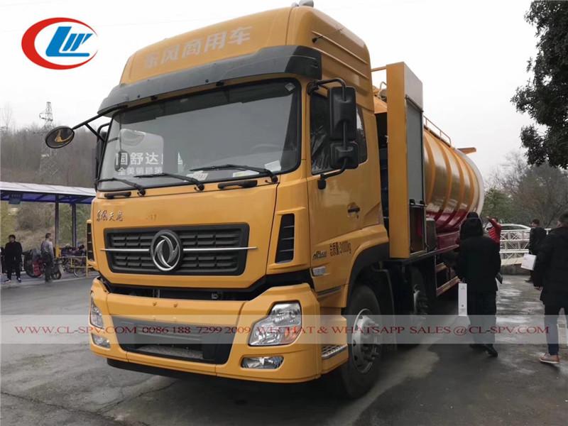 camiones de succión de aguas residuales de alta presión Dongfeng