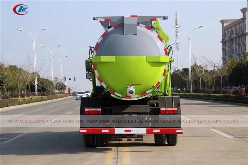 دونغفنغ شاحنة القمامة التصميم الجديد للدبابات