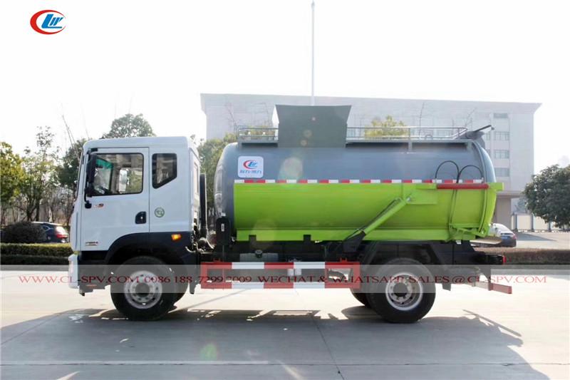 دونغفنغ D9 شاحنة لجمع القمامة دلو المصعد