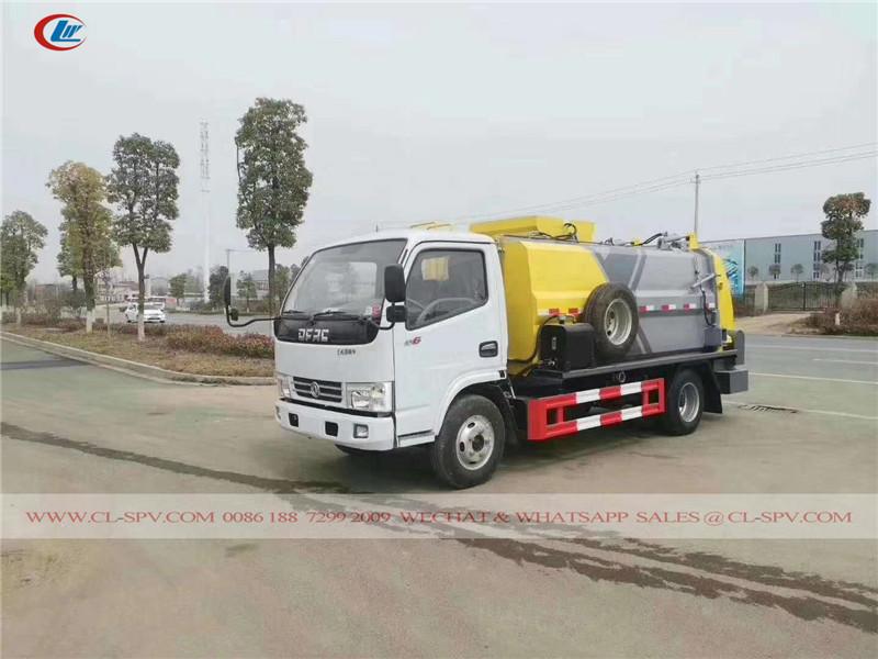 Dongfeng nuevo estilo camión de la basura de la cocina