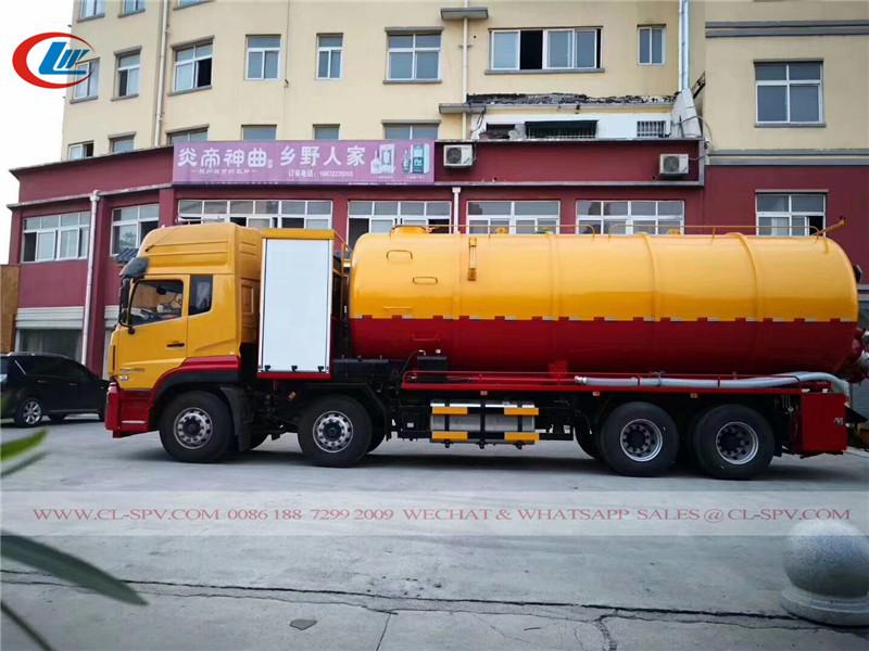 Dongfeng Tianlong caminhão de sucção de esgoto