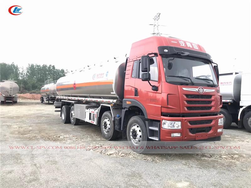 FAW 29 cbm Aluminum Alloy fuel transport truck