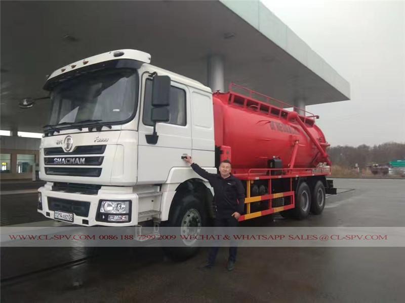 F3000 Shacman camiones de succión de aguas residuales
