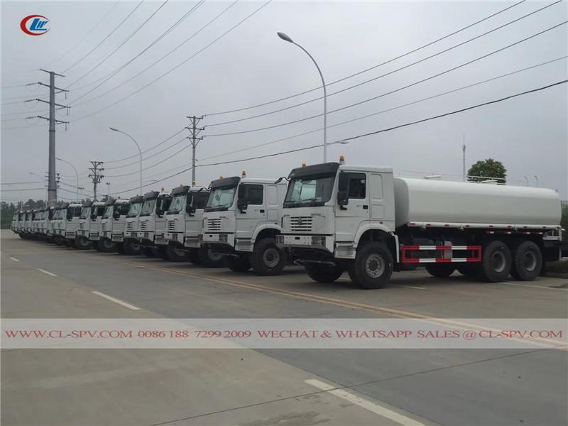 SINOTRUK HOWO 6х6 полный привод воды грузовик