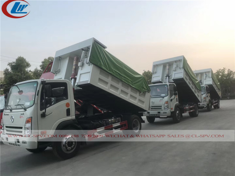 Dayun dump truck with Electric hydraulic Tarpaulin