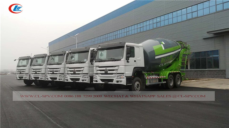Chengli howo 4 axles concret mixer truck
