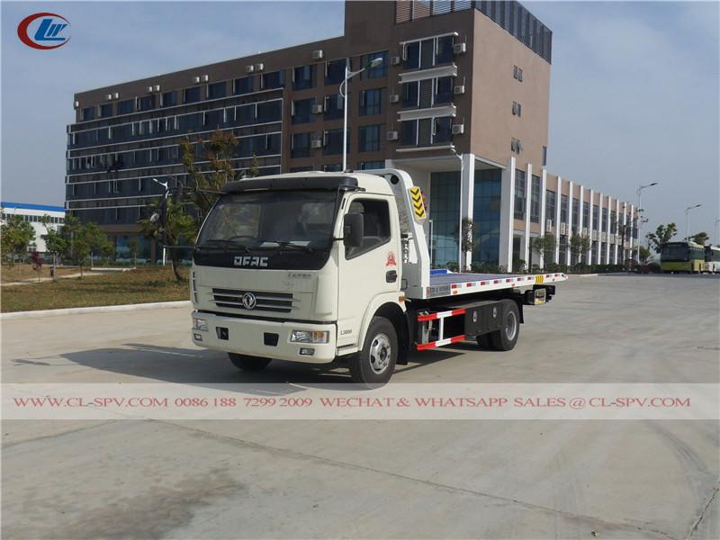 Dongfeng 2 cars wrecker tow truck