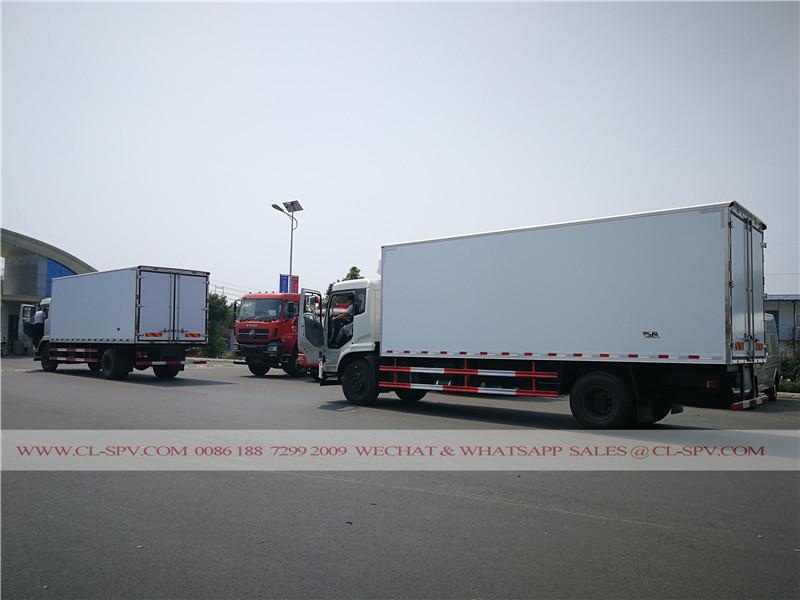 entrega de Dongfeng Tianjin refrigerado vehículo