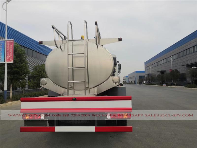 Howo 8000 liters fresh milk tank transport truck