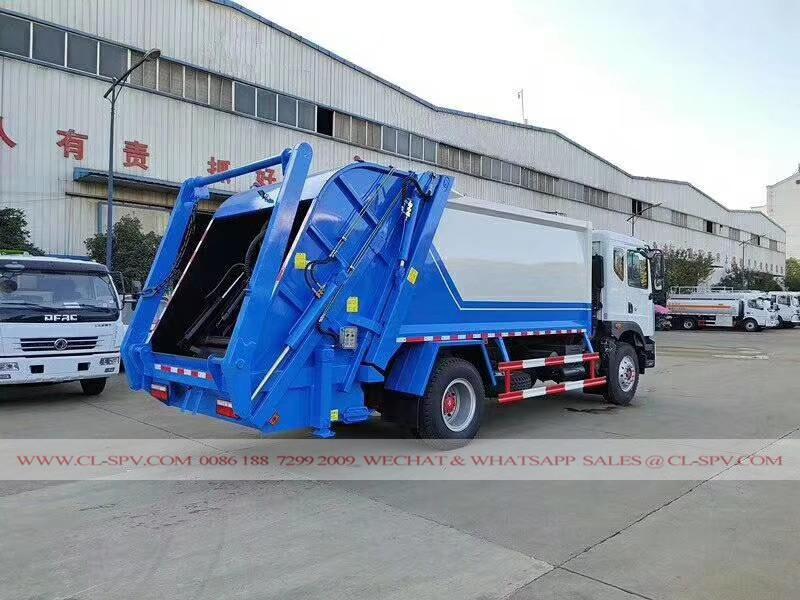 Dongfeng D9 compactador de carga trasera serie