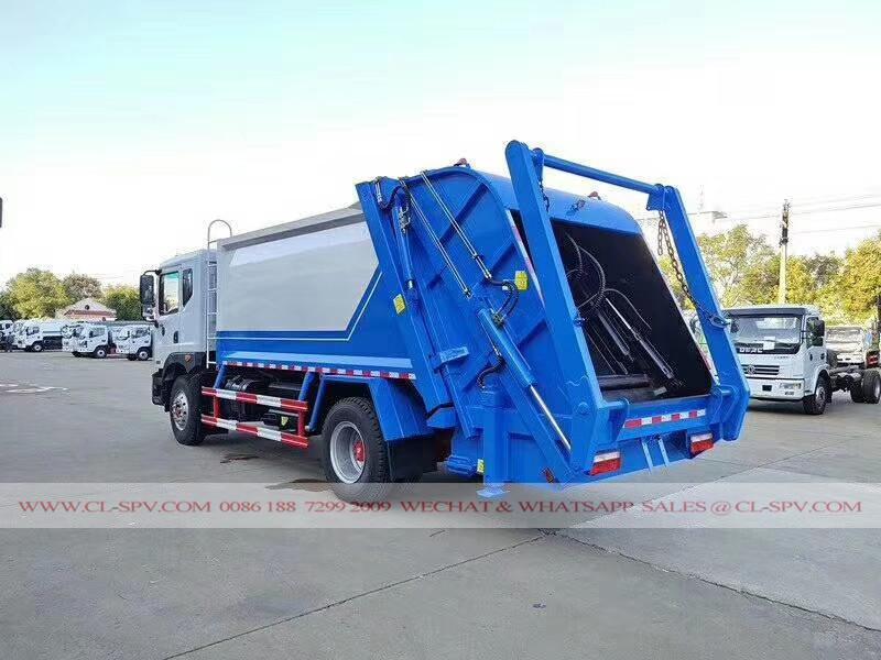 Dongfeng compactador de basura de carga trasera