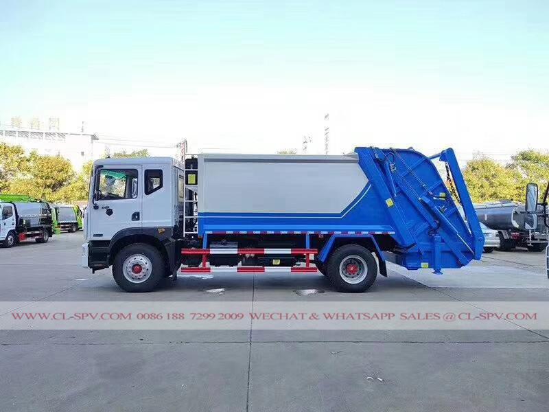 Dongfeng 10000 los litros compactador de carga trasera