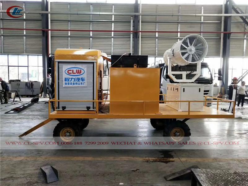 CLW雾炮系统安装在拖车