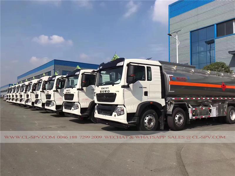 HOWO T5G 8x4 camion-citerne en alliage d'aluminium