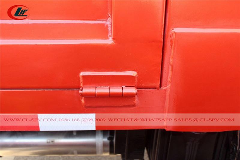 Schweißdetails für Dongfeng-Muldenkipper