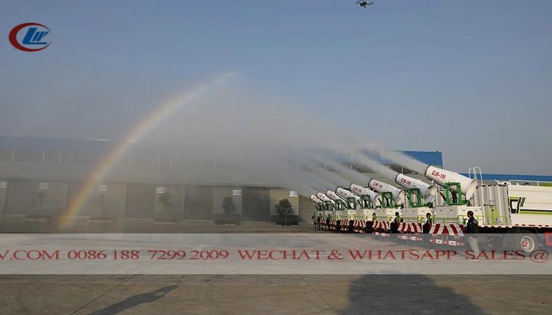 中国东风消毒卡车到阿联酋