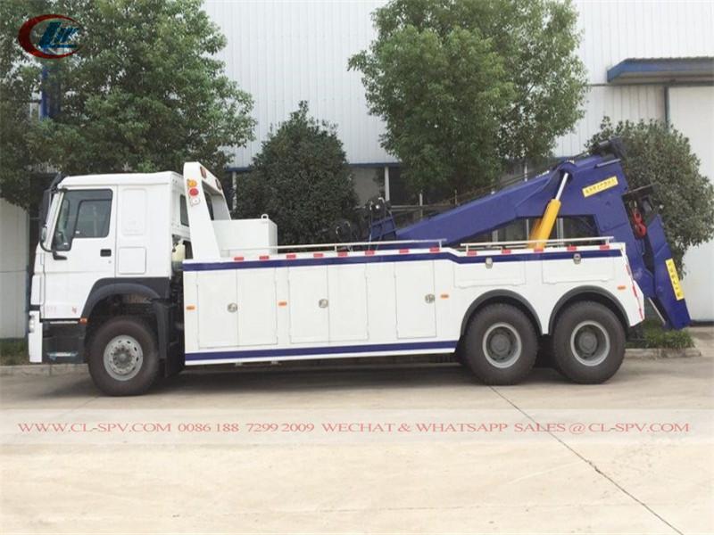 Howo 6x4 40 tons heavy duty towing truck