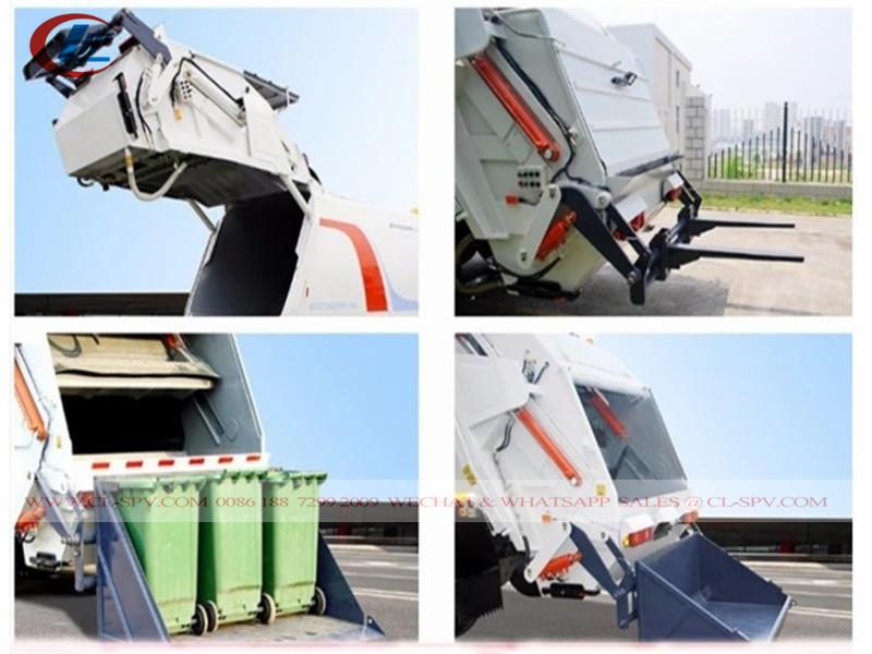 rear equipment of Isuzu 10-12 m3-cubic garbage compactor