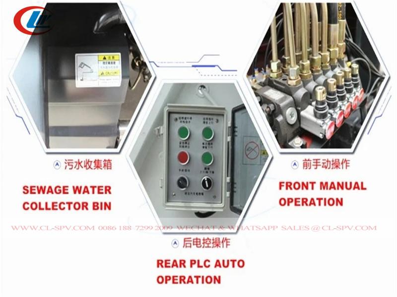 control valve of Isuzu FTR 10-12 m3-cubic garbage compactor