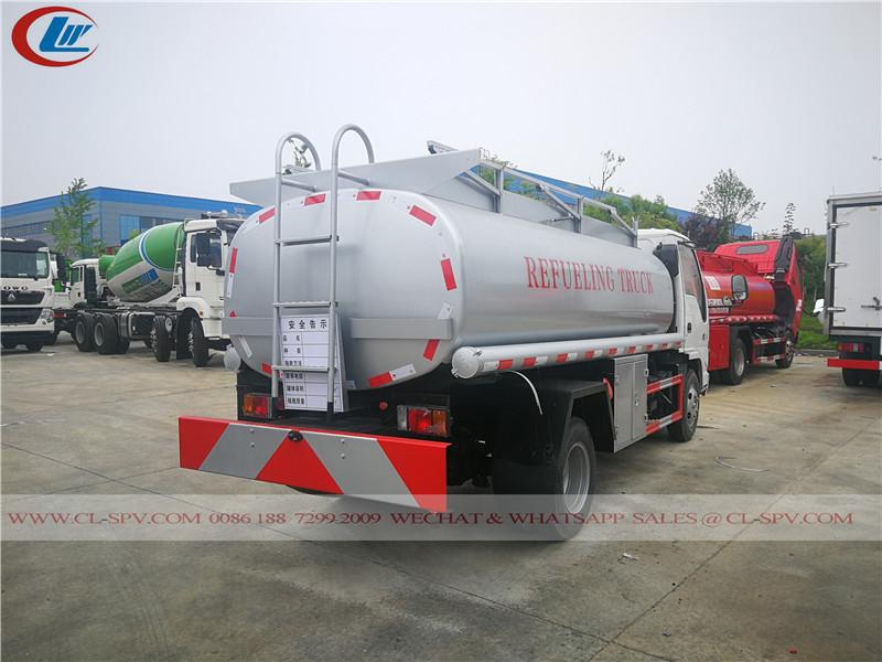 rear back view of isuzu 600P fuel refueling truck