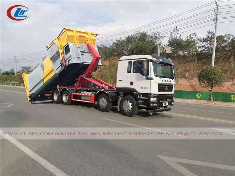 Sinotruk SITRAK 25 Tonnen Haken Arm Müllwagen